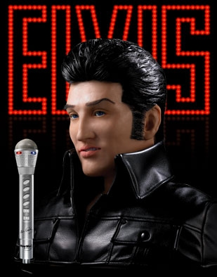 Elvis Presley singing robot bust is life-size