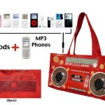 BoomBox Red iBag Has Speakers and Radio Built In