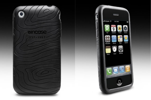 Incase protective cover for the Apple iPhone with rubberized topographic pattern