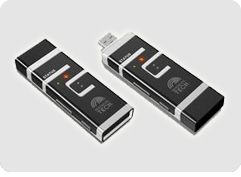 Irikon flash memory USB drive uses iris scan for security