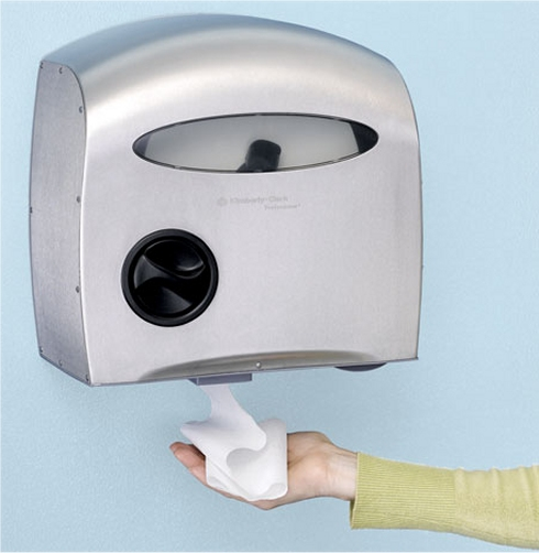 Automatic toilet paper dispenser from Kimberly Clark
