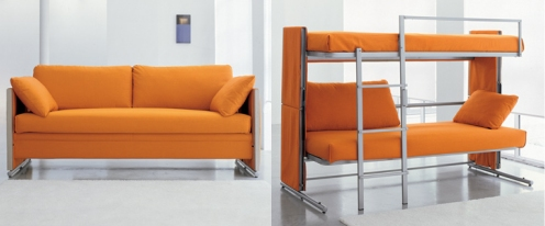 MobileForm sofa converts to a bunk bed