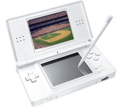 Nintendo DS Lite interactive with Mariners Baseball