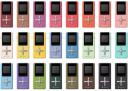 Toshiba Gigabeat U103 in 24 different colors