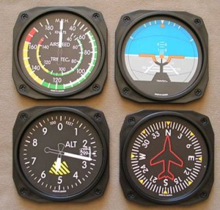 Airplane instrument gauge coasters