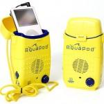 AquaPod splash-proof MP3 player spkeaker case