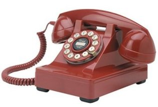 Crosley 302 Red desk phone hotline
