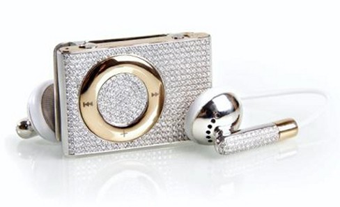iPod Shuffle with $20,000 of diamonds and gold encrusted on it
