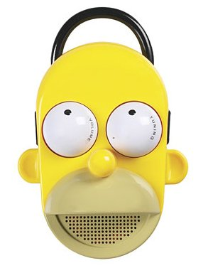 Homer Simpson shower radio