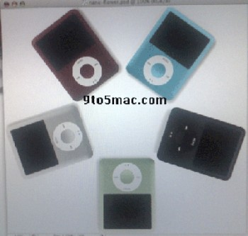 new video iPod Nano leaked photos showing wide-screen and wide body iPod