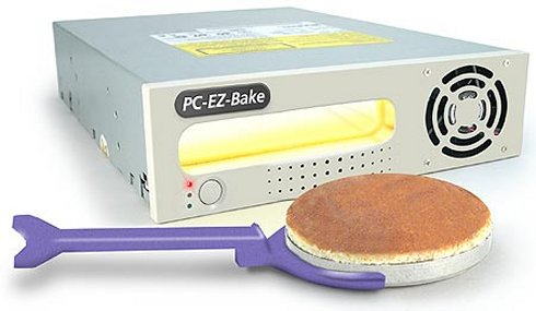 PC EZ-Bake Oven fits in the 5.25 inch drive bay of a PC