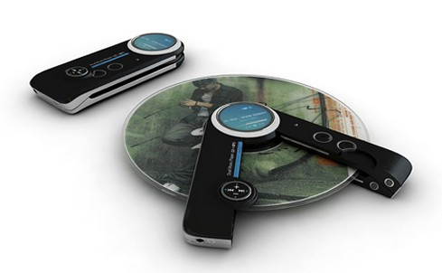 ultra portable CD and MP3 player concept
