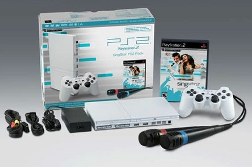 White PS2 to be released by Sony bundled with SingStar Pop
