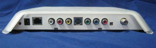 Slingbox HD rear view showing no need for dongle with component video