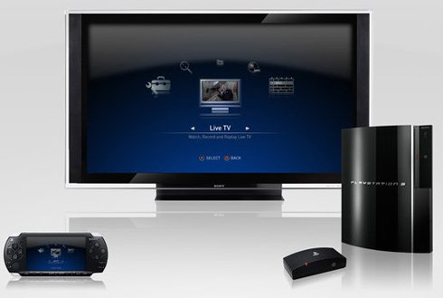 Sony PlayTV lets the PS3 record and playback television shows and stream them to the PSP