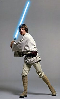 Luke Skywalkers lightsaber will be brought into outer space