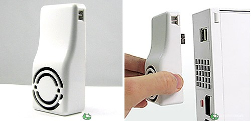 Wii Cooling Fan accessory plugs into USB port