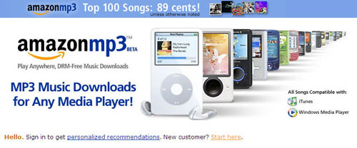 Amazon launches public music download service DRM free