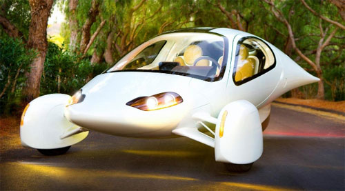 Aptera 3-wheeled vehicle energy efficient car