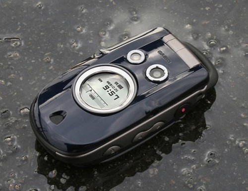 Casio GzOne Type-S is a rugged mobile phone that can take wet, shock and outdoor exposure