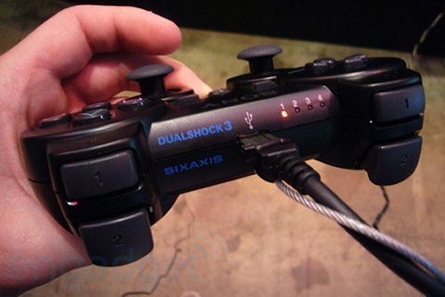 Sony Sixaxis Dualshock 3 wireless controller that rumbles
