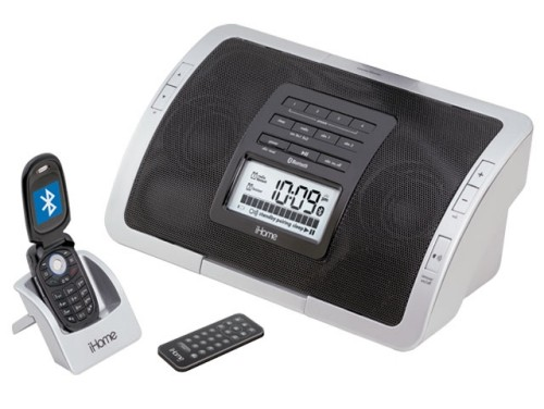 iHome IHC5S clock radio and speakers dock for Bluetooth cell phones
