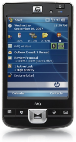 HP iPAQ 210 Enterprise edition handheld PDA