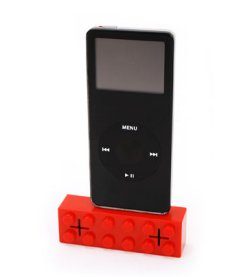 Lego shaped iPod dock with speakers