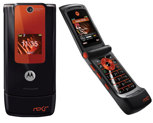 MOTO ROKR W5 in an orange color
