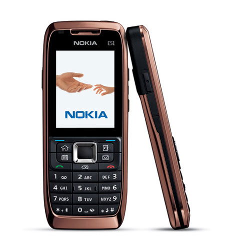 Nokia E51 Smartphone for business use with a simple design