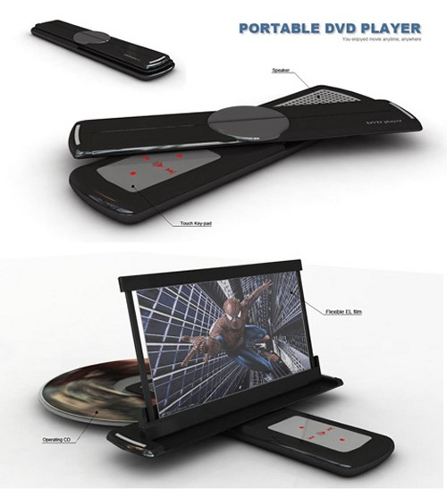Ultra Portable DVD Player Concept