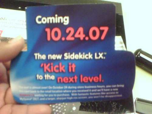 Advertisment picture of the Sidekick LX launch date