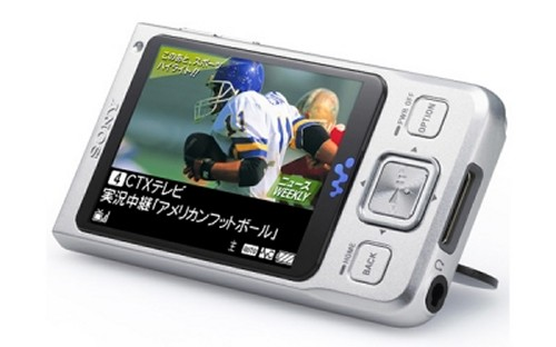 Sony Walkman NW-A910 media player receives 1seg television broadcasts