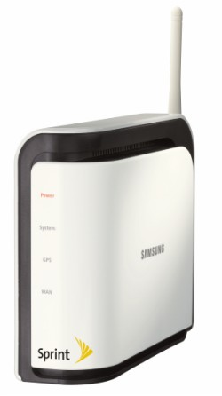 Sprint Airave from Samsung provides wireless in-home Femto cell phone coverage through broadband internet