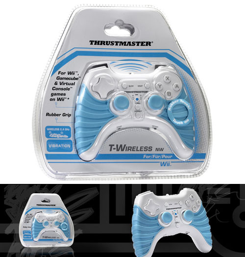 Thrustmaster T-Wireless NW controller for the Nintendo Wii gives a different and better grip for older style games