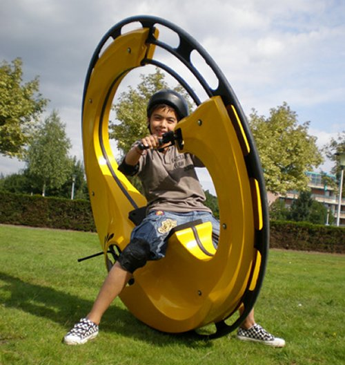 WheelSurf 2007 is a powered wheel that you ride inside