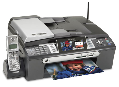 Brother MFC-885CW all in one printer with widescreen display