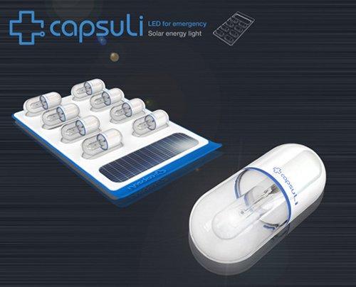 Capsuli solar powered capsule