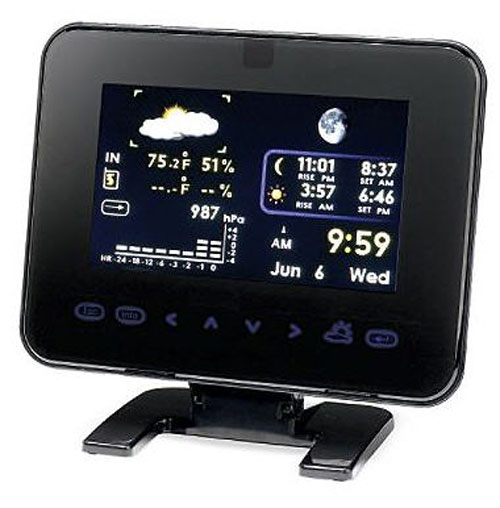 Frontgate digital frame with weather station