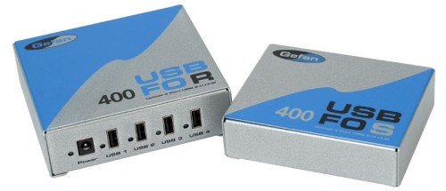 Gefen USB 400FO USB extender can boost USB device signal up to 500 meters
