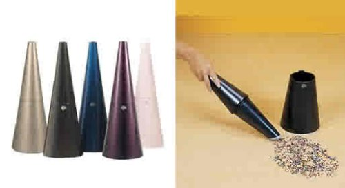 Kone vacuums are stylish and cone shaped