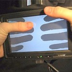 LucidTouch transparent touch screen