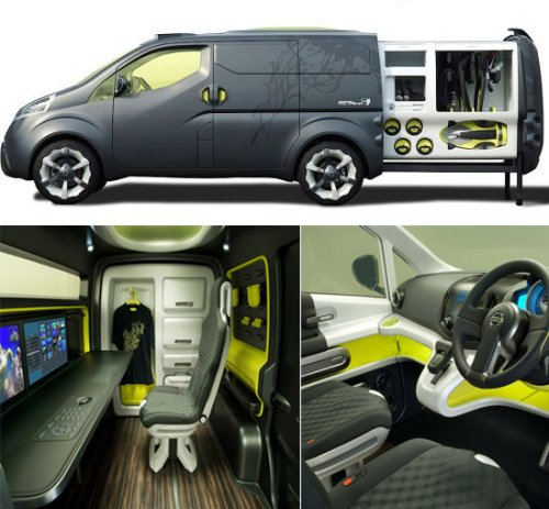 The Nissan NV200 concept vehicle gets you from your home to the office in under 10 seconds flat.
