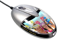 Saitek Photo Mouse lets you keep a printed picture in it and lights it up