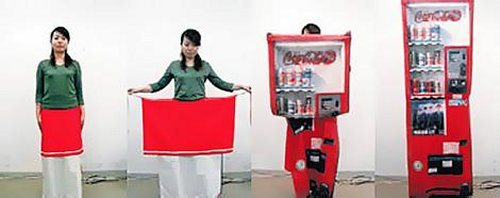 Designed by Aya Tsukioka, it makes you a human transformer.