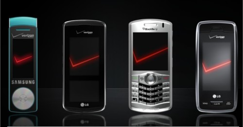 Verizon releases the LG Voyager, LG Venus and Samsung Juke and Blackberry Pearl mobile phones in a new lineup for the holidays to take on Apple's iPhone