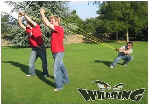WildSling three person sling shot can launch things over 300 feet