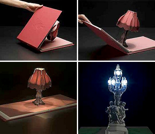 pop up book is a lamp