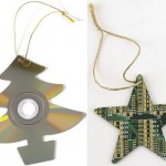 CD and circuit board Christmas ornaments