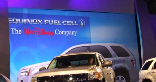 Chevy will partner with Disney in Project Driveway providing 10 Equinox Fuel Cell vehicles.